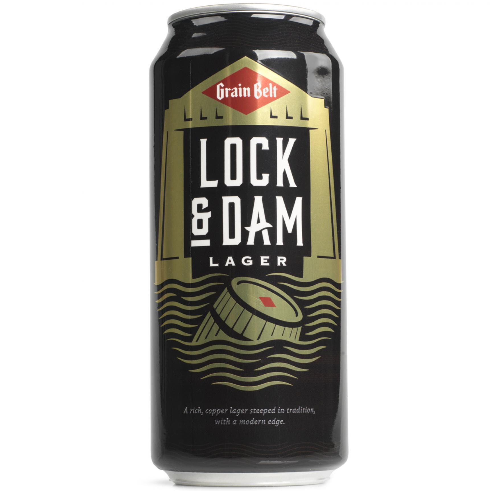 Grainbelt Lock and Dam Lager proof of concept packaging mockups.