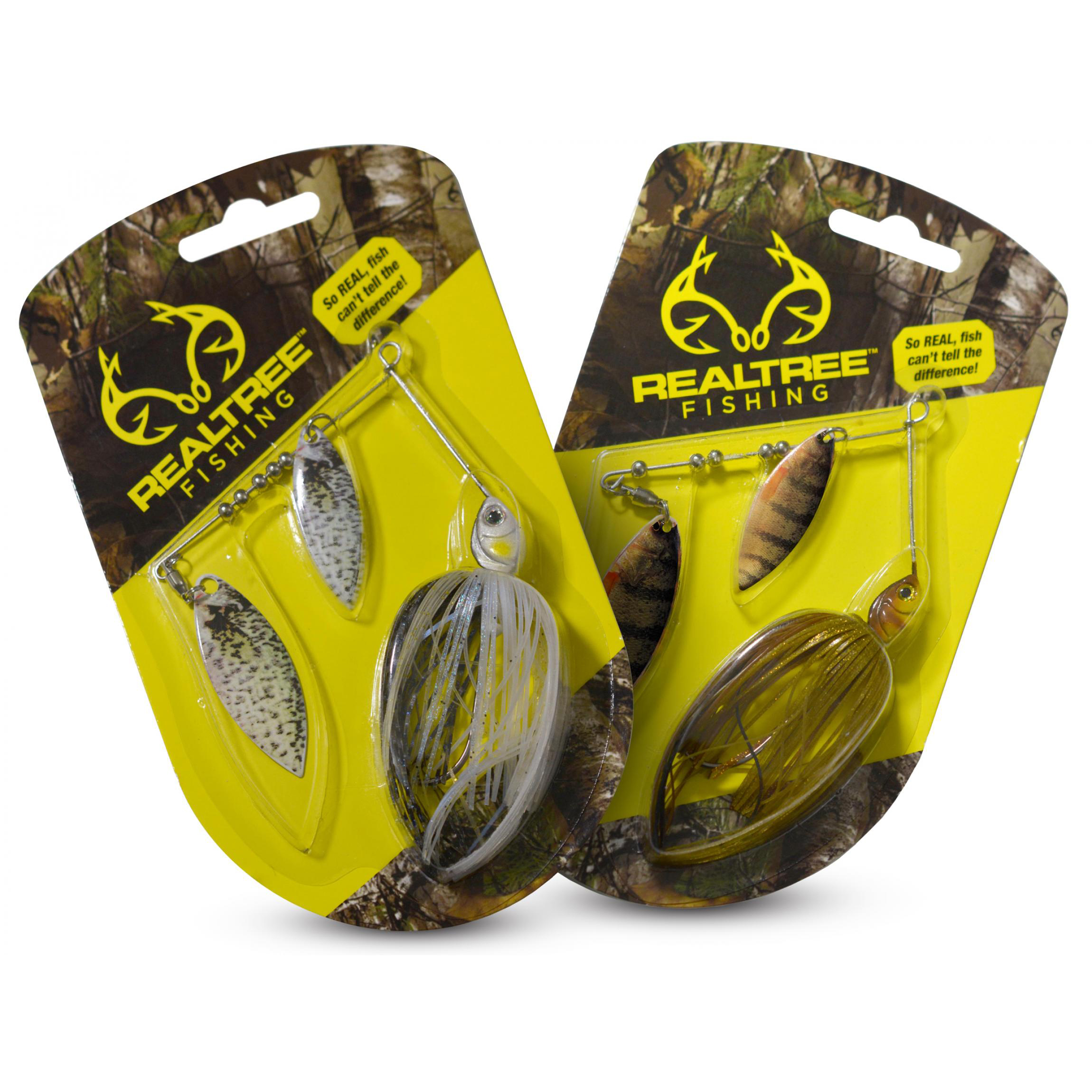 Examples of the packaging design and packaging mockups we created for the new RealTree Fishing™ line.