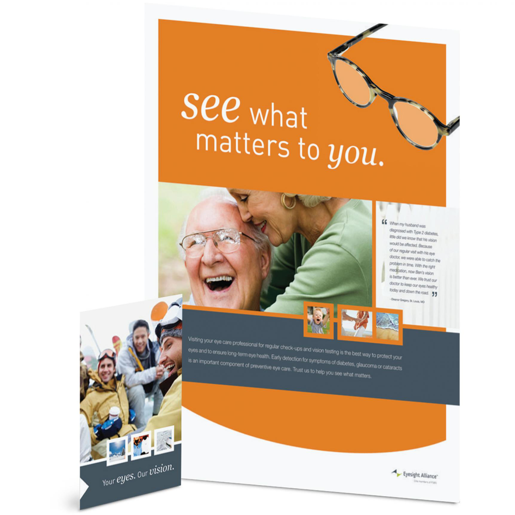 An example of marketing collateral for Soderberg Optical.