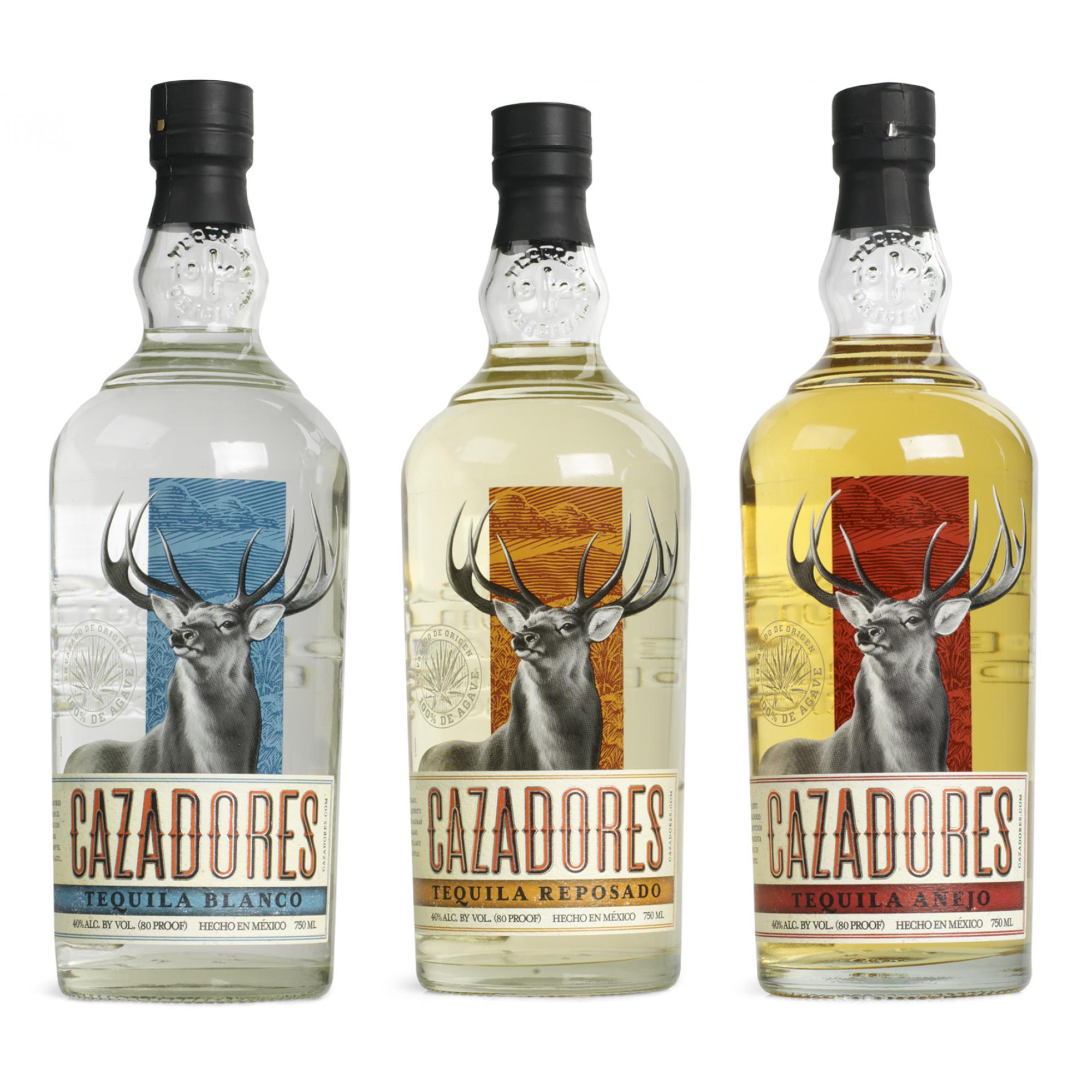 Proof of concept packaging mockups for Cazadores Tequila.